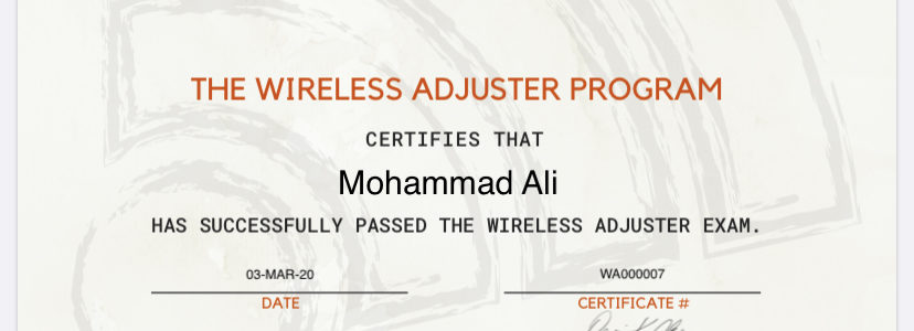 Wireless Adjuster Test